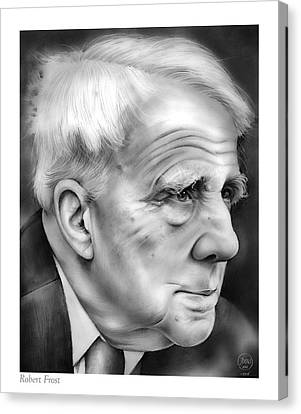 Robert Frost Canvas Print by Greg Joens