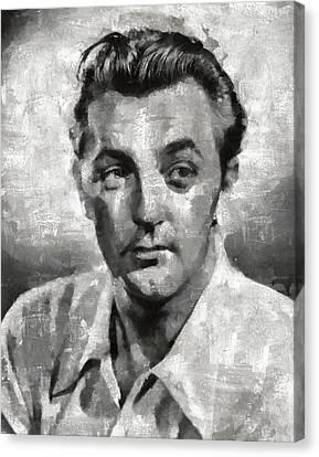 Robert Mitchum Hollywood Actor Canvas Print by Mary Bassett
