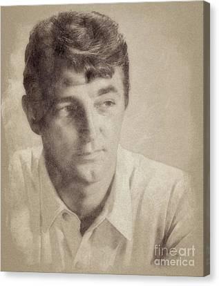 Robert Mitchum, Hollywood Legend By John Springfield Canvas Print by John Springfield