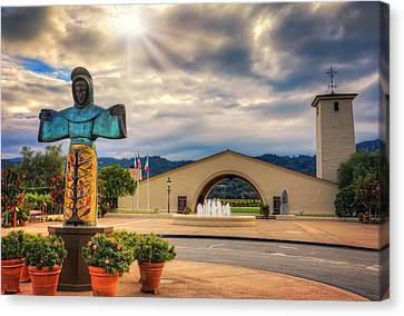 Robert Mondavi Winery - Napa Valley California Canvas Print by Jennifer Rondinelli Reilly - Fine Art Photography