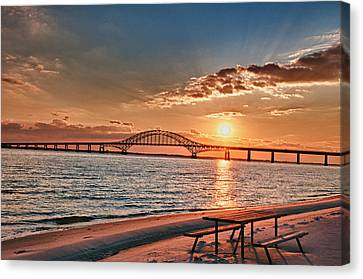 Robert Moses Bridge  Canvas Print by Linda Pulvermacher