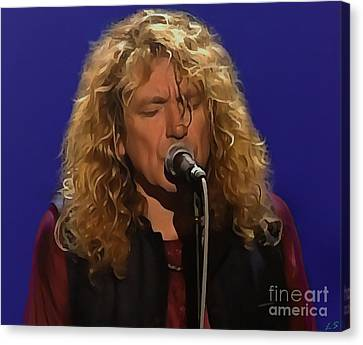 Robert Plant 001 Canvas Print by Sergey Lukashin