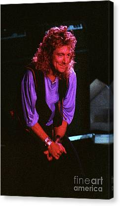Robert Plant Performance Art Canvas Print - Robert Plant-88-3224 by Gary Gingrich Galleries