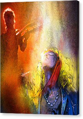 Robert Plant And Jimmy Page 02 Canvas Print by Miki De Goodaboom