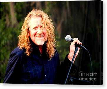 Robert Plant Canvas Print by Angela Murray