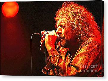 Robert Plant Performance Art Canvas Print - Robert Plant by John Malone