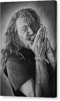 Robert Plant Canvas Print by Steve Hunter