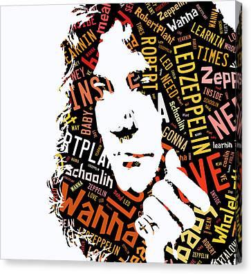 Robert Plant Whole Lotta Love Canvas Print by Marvin Blaine