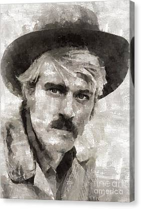 Robert Redford Hollywood Actor Canvas Print by Mary Bassett