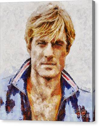 Robert Redford Hollywood Actor Canvas Print by Sarah Kirk