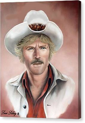 Canvas Print featuring the painting Robert Redford by Loxi Sibley