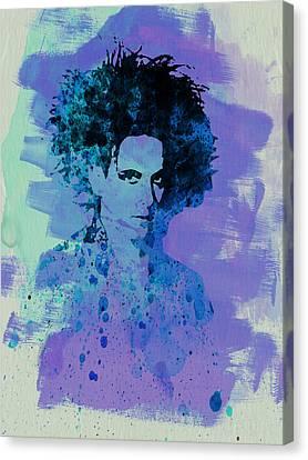 Robert Smith Cure Canvas Print by Naxart Studio