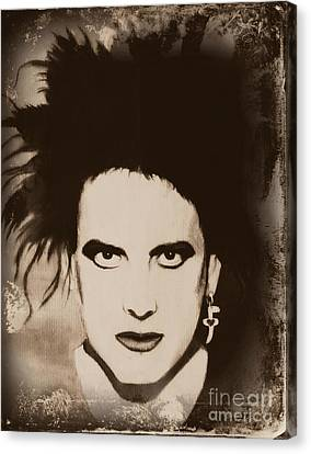 Robert Smith The Cure Canvas Print by Jeepee Aero