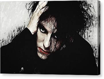 Robert Smith - The Cure  Canvas Print by Taylan Apukovska