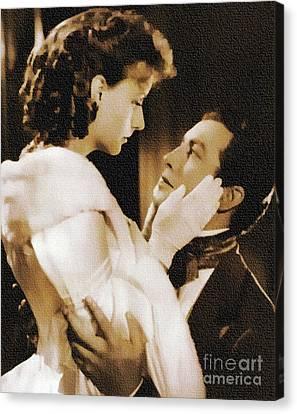 Robert Taylor And Greta Garbo Canvas Print