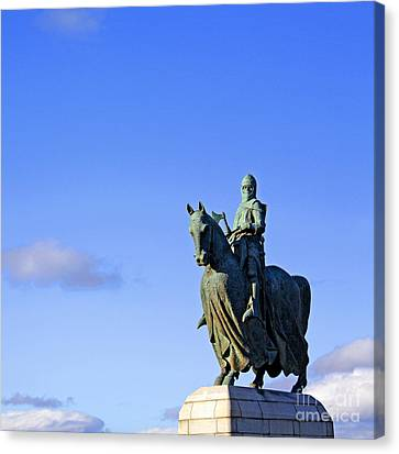 Canvas Print featuring the photograph Robert The Bruce King Of Scots  by Craig B