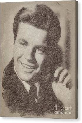 Noir Canvas Print - Robert Wagner, Actor by Frank Falcon