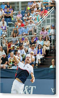 Atp World Tour Canvas Print - Roberto Bautista Agut Plays At The Winston-salem Open by Bryan Pollard
