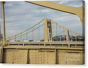 Clemente Canvas Print - Roberto Clemente Bridge by David Bearden