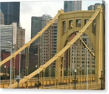 Roberto Clemente Bridge Canvas Print by Deb Sagan