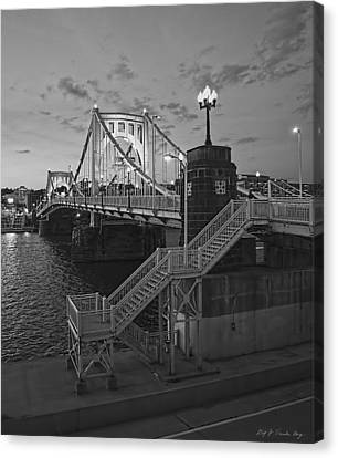 Roberto Clemente Bridge Canvas Print by Dirk VandenBerg