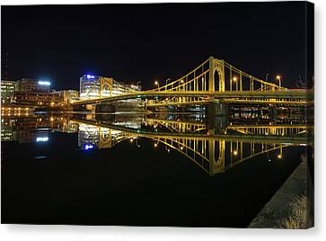 Roberto Clemente Bridge Canvas Print by Jimmy Taaffe