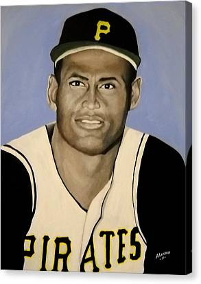 Roberto Clemente Canvas Print by Edwin Alverio