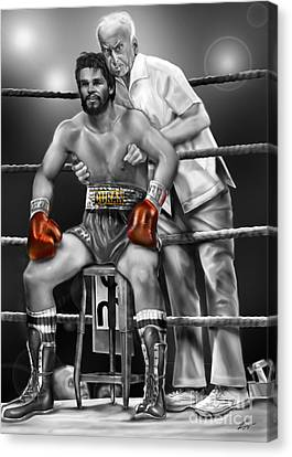 Roberto Red Gloves Of Gray  Canvas Print