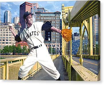 Roberto's Bridge Canvas Print by George Curcio