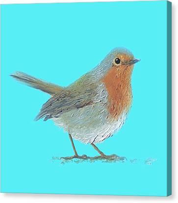 Robin Bird Canvas Print by Jan Matson