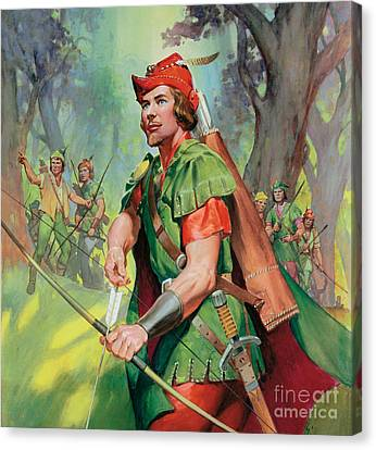 Lincoln Drawings Canvas Print - Robin Hood by James Edwin McConnell