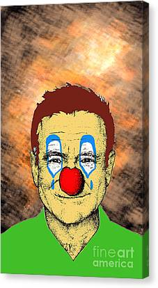 Canvas Print featuring the drawing Robin Williams 1 by Jason Tricktop Matthews