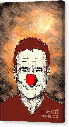 Canvas Print featuring the drawing Robin Williams 2 by Jason Tricktop Matthews