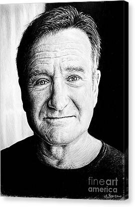 Robin Williams Canvas Print by Andrew Read