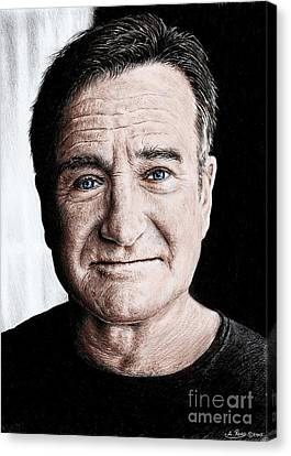 Robin Williams Colour Edit Canvas Print by Andrew Read