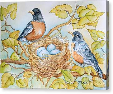 Robins Nest Canvas Print