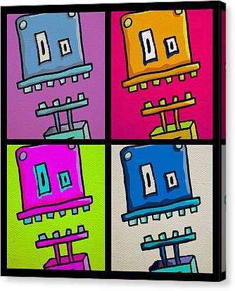 Robmo X 4 Canvas Print by Jera Sky