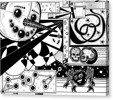 Robo Snowman Montage Canvas Print by Christopher Capozzi