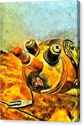 Brown Canvas Print - Robot Bug by Leonardo Digenio