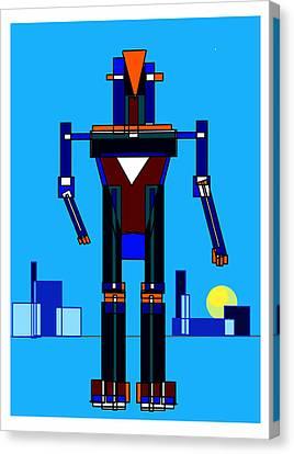 Robot Canvas Print by Denny Casto