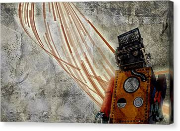 Robot Love Canvas Print by Shawn Ross