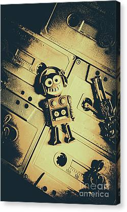 Cassettes Canvas Print - Robotic Trance by Jorgo Photography - Wall Art Gallery