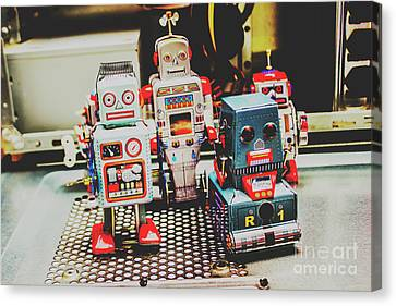 Robots Of Retro Cool Canvas Print