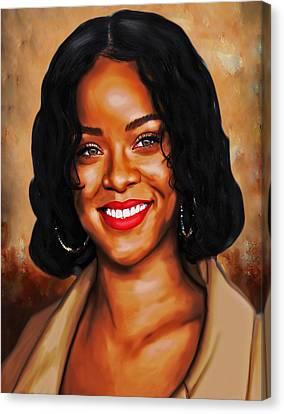 Robyn Rihanna Fenty Canvas  Canvas Print