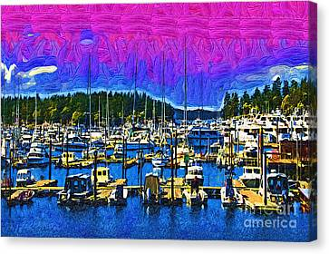 Port Town Canvas Print - Roche Harbor 1 by Kirt Tisdale