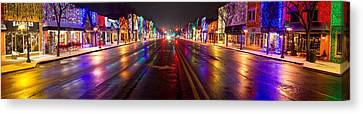 Rochester Christmas Light Display Canvas Print