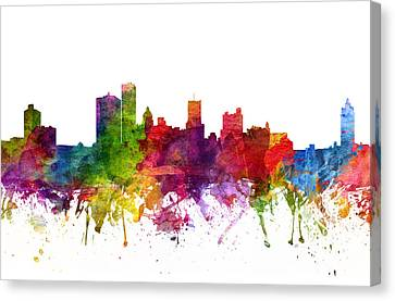 Rochester Cityscape 06 Canvas Print by Aged Pixel