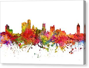 Rochester Cityscape 08 Canvas Print by Aged Pixel