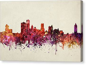Rochester Cityscape 09 Canvas Print by Aged Pixel