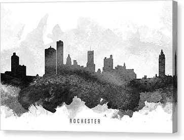 Rochester Cityscape 11 Canvas Print by Aged Pixel